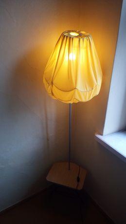 Lampy podlogowe ze stolikiem Prl