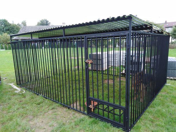 Kojec dla psa 4x3m z profili, klatka, boks, zagroda, wiaty