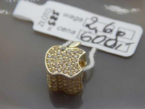 złota zawieszka charms do bransoletki typu pandora apple jabłko pr 585