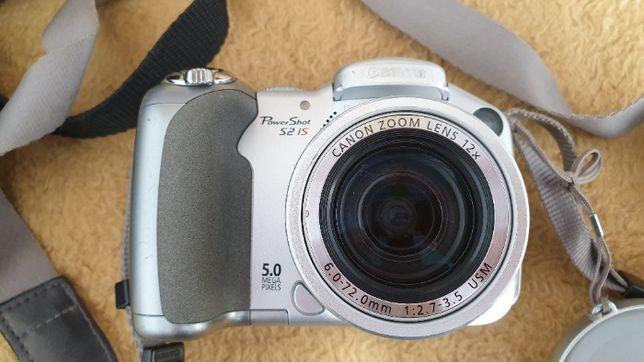 Aparat cyfrowy kompaktowy Canon Powershot S2 IS + 2 pokrowce +2karty