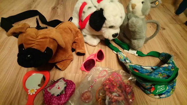 Torebka piesek,króliczek-spinki i inne dodatki dla małej damy