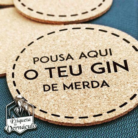 base copos etiqueta vernaculo pousa o gin