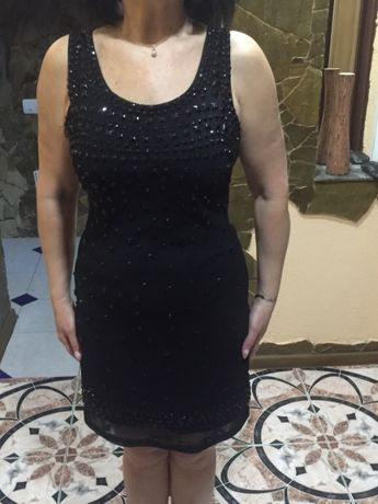 платье вечерние со стразами чёрными