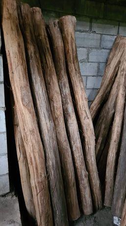 Dębaki 2,5m ogrodzenie , stęple , słupy