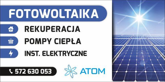 Fotowoltaika Pompy Ciepła  Instalacje Elektryczne ATOM SERVICE