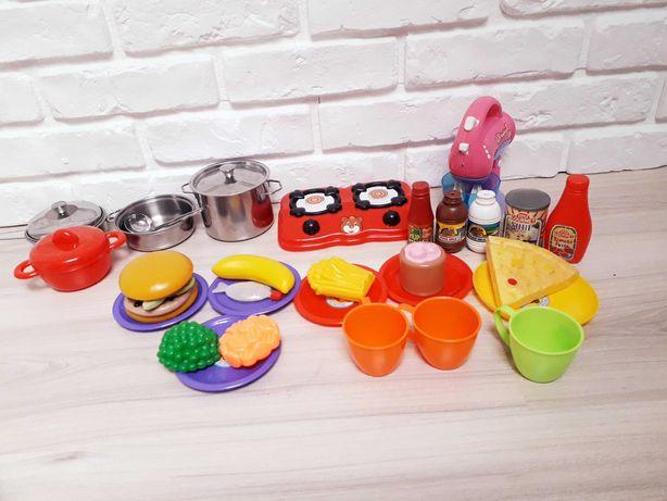 Zestaw kuchenny dla dzieci do zabawy, mikser, kuchenka, garnki itp.