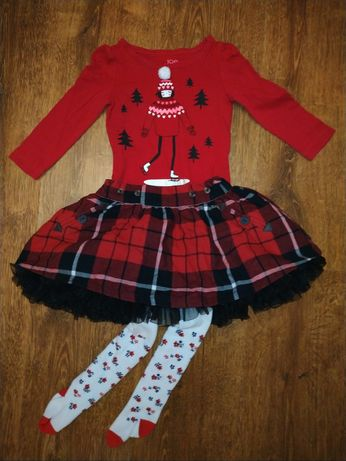 Новогодний лук костюм набор колготы нарядная пышная юбка штаны