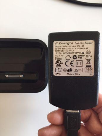 Carregador ipod/iphone 4 e modelos seguintes, com adaptador