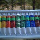 Акриловые краски профессиональн набор 12 цв тубах акрилові фарби акрил