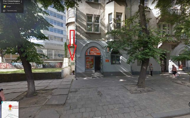 Магазин-кафе 133 м2 в м.Львів, вул.С.Бандери,28 85000$