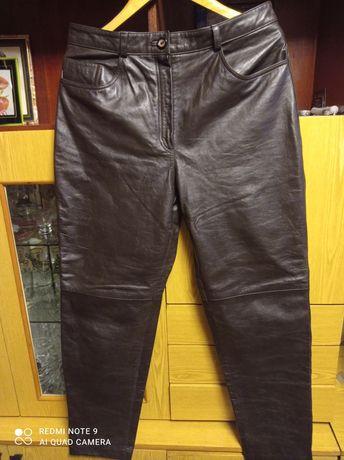 Классные, женские кожанные брюки