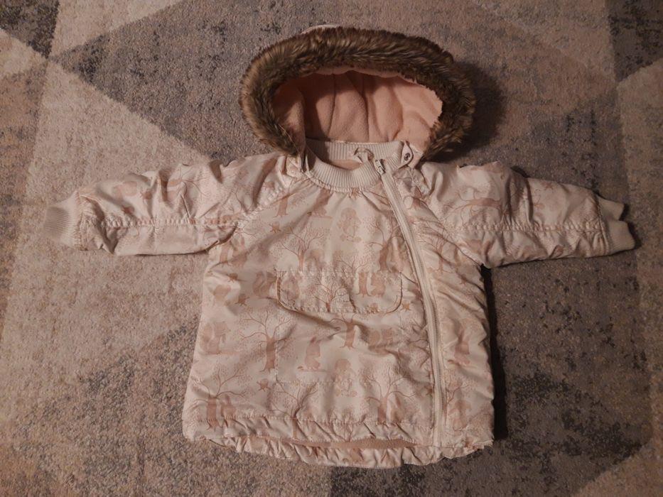 Zimową kurtka dla dziewczynki firmy H&M, rozmiar 92 Kraków - image 1