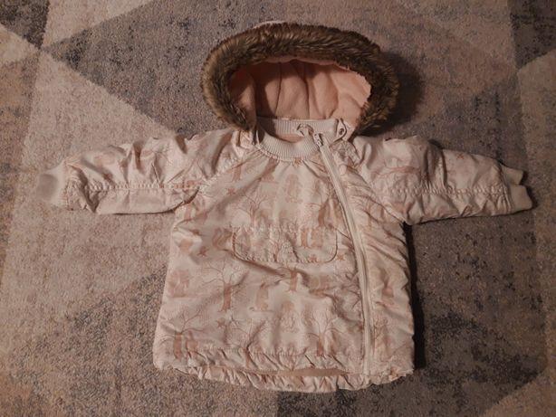 Zimową kurtka dla dziewczynki firmy H&M, rozmiar 92