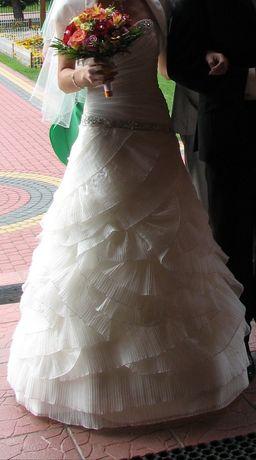 Suknia ślubna ecru rozm. 36