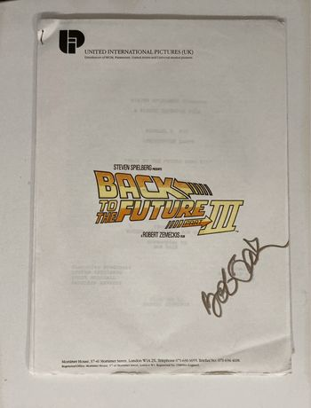Back to the Future III - Bob Gale - autograf