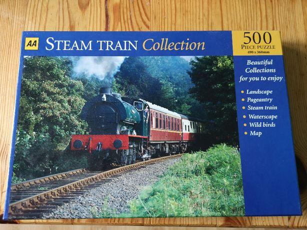 puzzle pociąg 500 steam train
