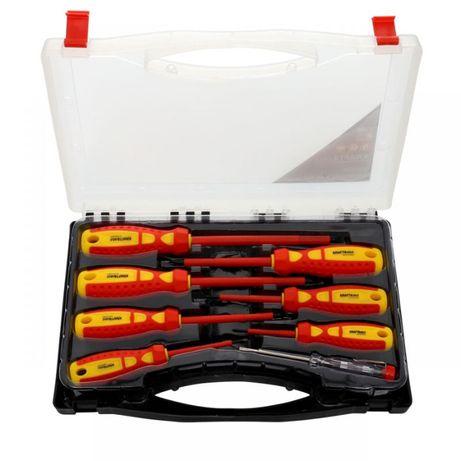 Zestaw śrubokrętów w walizce + próbnik 100-250V