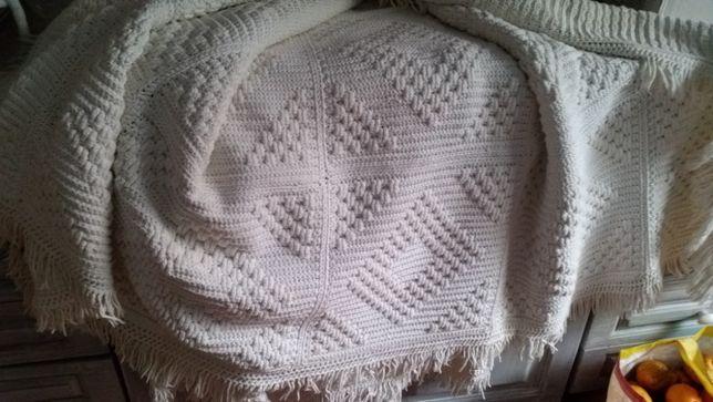 Colcha de casal antiga em crochet!
