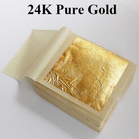 Złoto jadalne 24 k w płatkach