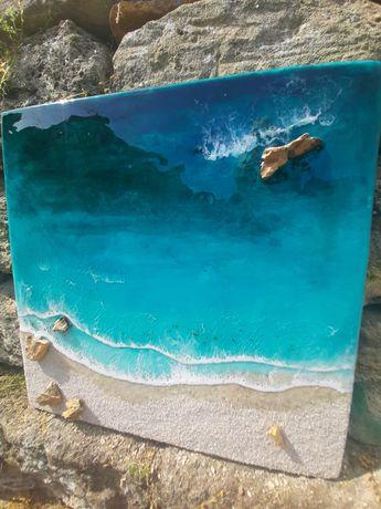 Интерьерная 3D Лагуна море океан картина подарок на сувенир лофт эко