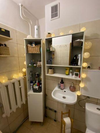 Szafki łazienkowe - Słupek i szafka z lustrem