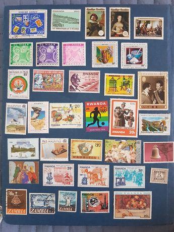 Lote de 86 selos de paises de Africa