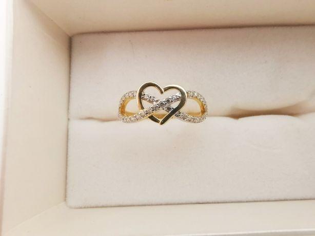 NOWY Złoty Pierścionek LOVE SERCE pr.585 r.17 |Plus Lombard Kłodzko