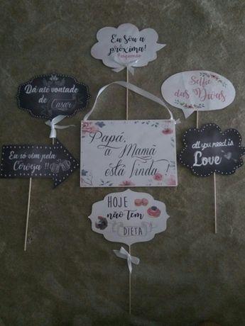 Placas casamento photobooth