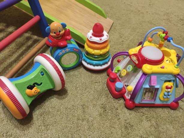 Лот фирменных развивающих игрушек Fisher price, Hoodle, Chicco