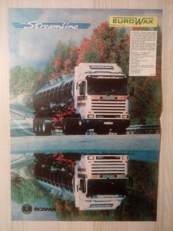Plakat Poster Scania 113M 400 4x2 Streamline 33,5cm x 47,5cm EuroWax