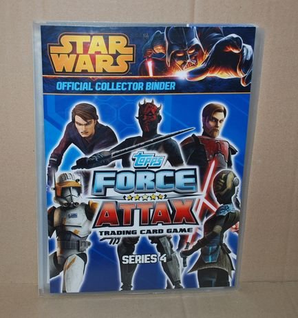 Topps STAR WARS Force Attax Seria 4 - Album + komplet kart