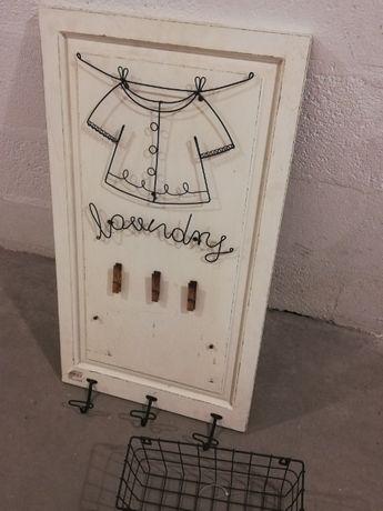 !NOVO! Placa decorativa Vintage Lavandaria do GATO PRETO 41x74cm
