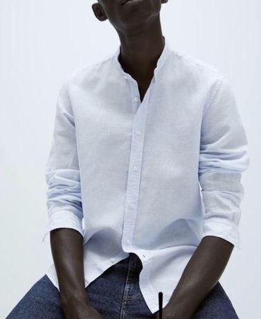 Льняная рубашка Zara M