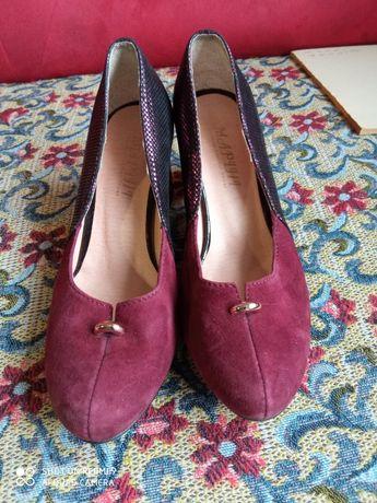 Туфли фиолетово-черные