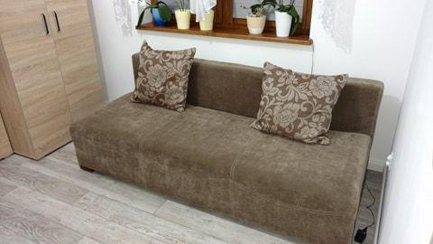 Sofa z opcją spania, wypoczynek, kanapa + skrzynia