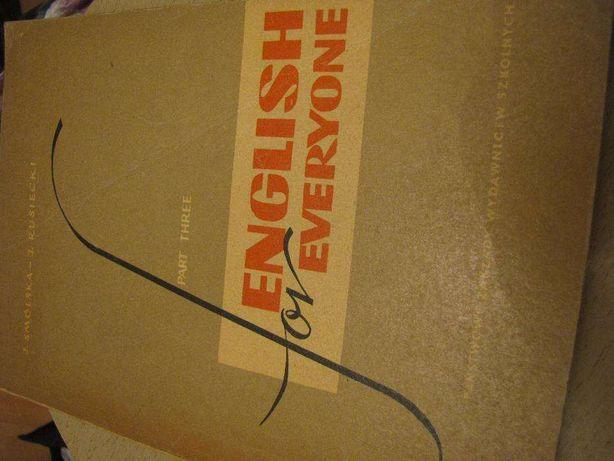 """książka podręcznik """"English for everyone"""" część trzecia, J.Smólska, J."""