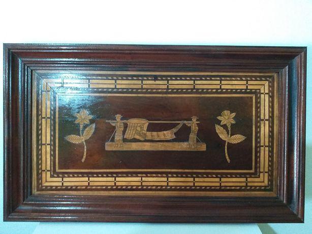 Antigo e raro quadro Peça excepcional estilo Regency seculo 19