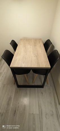 Stół + 4 krzesła loft industrialny jadalnia