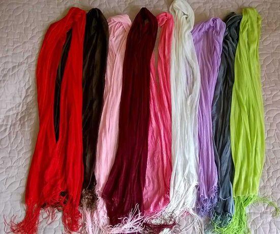 Szale zestaw różne kolory