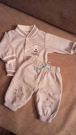 Dresik niemowlęcy, szary w rozmiarze 62 cm