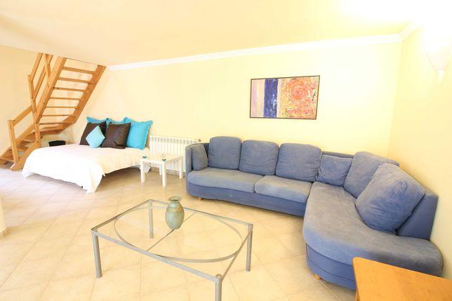 Sofa de canto azul duas peças