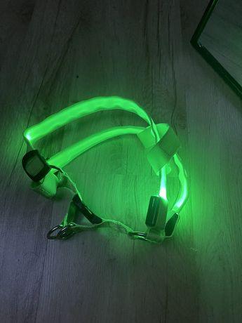 Nowe ledowe szelki dla psa zielone neonowa Led