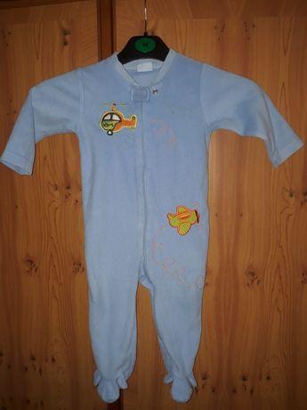 Piżama dziecięca w rozmiarze 80, rozpinana, przykryte stópki