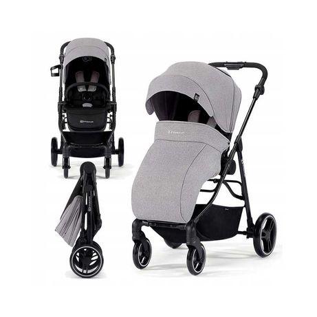Kinderkraft Spacerówka VESTO Wózek Spacerowy Przód Tył kolor szary
