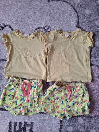 Letnie ubrania dla Bliźniaczek roz 74 bluzki