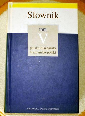 Słownik polsko-hiszpański, hiszpańsko-polski z gramatyką