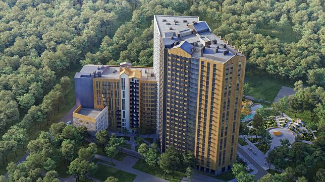 Уютная 1-к квартира 39м2 ЖК Chalet для инвестиций, рядом метро, сквер