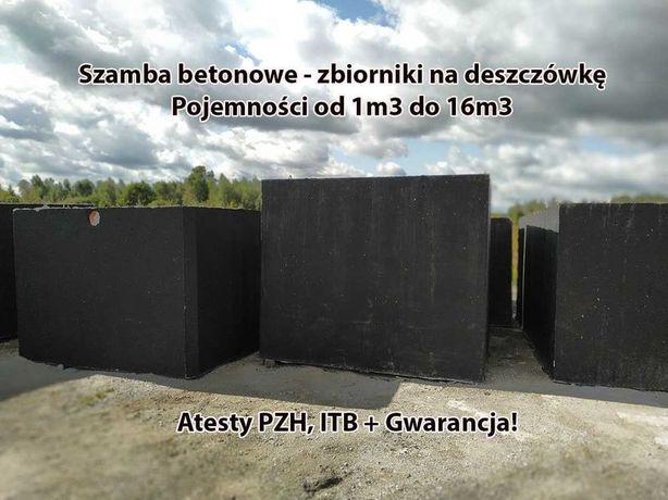 Szamba betonowe szambo zbiorniki betonowe 2m3 na4 deszczówkę 10 12 8 6