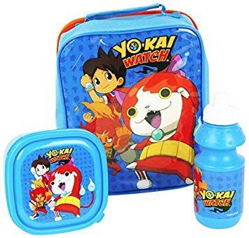Набор Пикачу, Yo-kai Watch: ланчбокс и бутылка, в сумке для школы