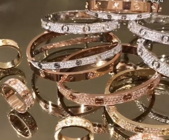Подарки! Спец цена к 8 Марта! Все браслеты Картье по 1200грн. Золото
